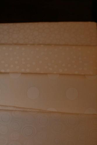 Close Up White Fabrics