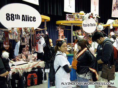 Booths selling costumes