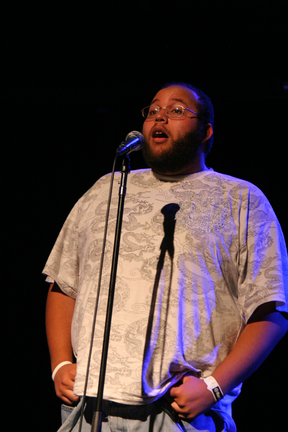 Dave Nichols from Ohio, during the poetry slam