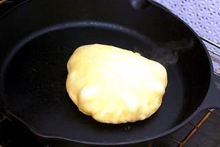 pita, baked and puffed