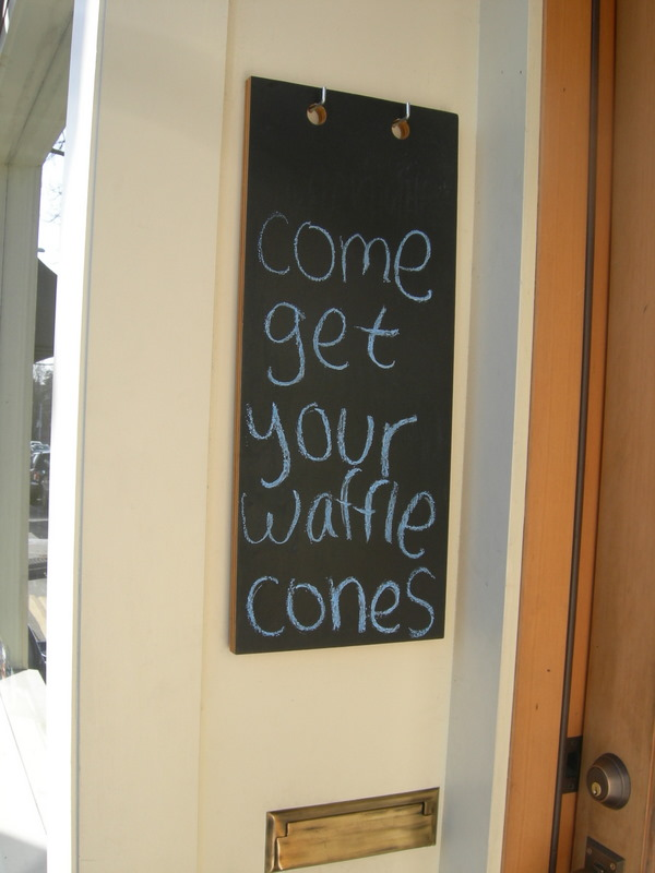 Come get your waffle cones