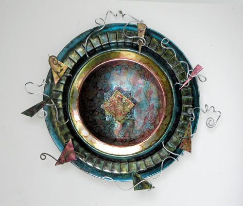 organic geometry mixed media (c) 2009, Lynne Medsker