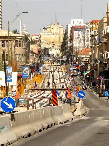 Downtown Jerusalem not looking its best