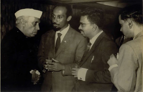 Nehru... with Aquino Braganca by you.