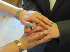 Love the nail color, but click on this to get the story behind the jewelry.