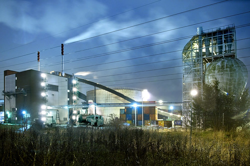 Uppsala combined heat and power plant. Central heat plant.