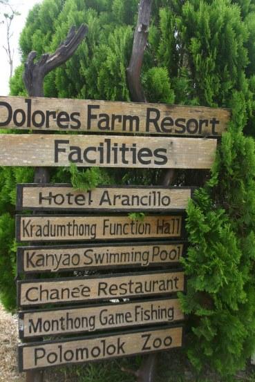 Dolores Farm Resort Signage