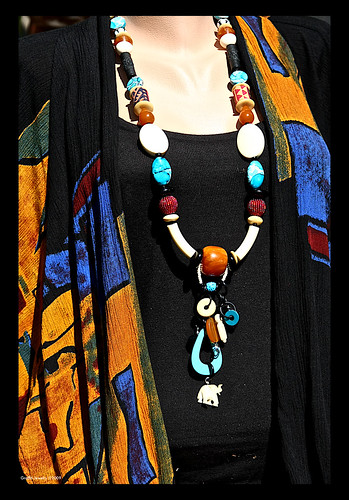 Tribal Treasures...a collection of handmade beads from our visit to Africa by you.