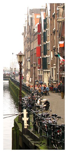 Bikes, canal, houses by you.