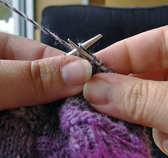 Wrapping short-rows, slip wrapped stitch