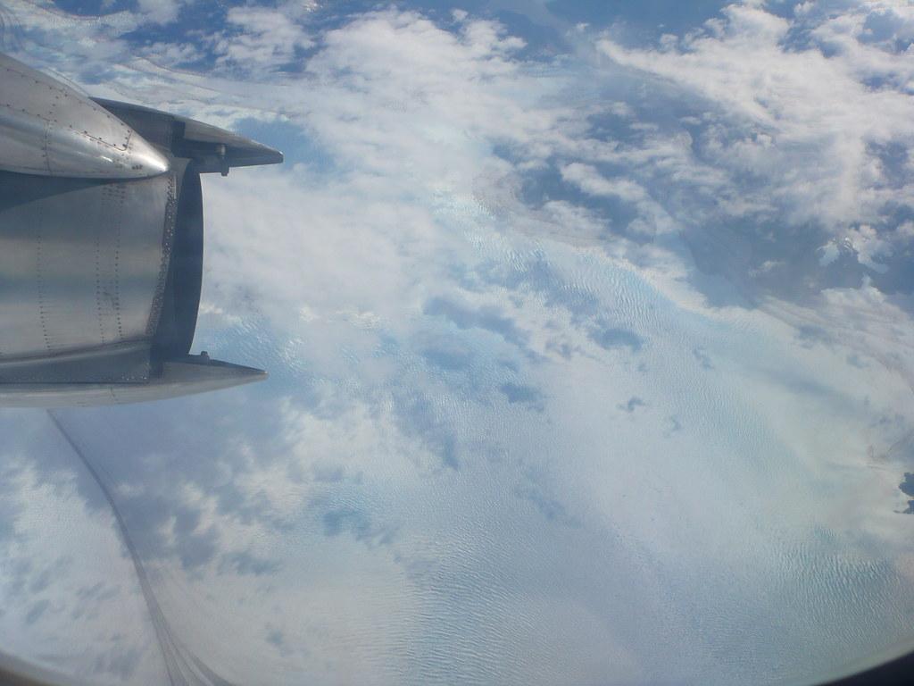 sobrevolando el campo de hielo patagónico