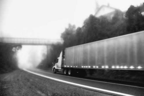 Big Rig in the Mist