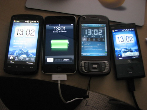 All my current phones