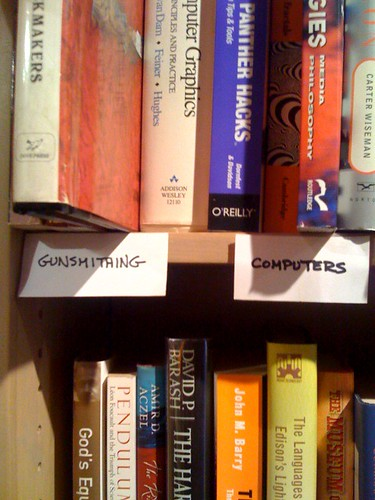 Labels found at a used book store.  My two favorite things together!