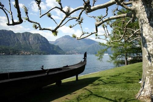An iron gondola from Villa Melzi Gardens, Bellagio, Lake Como, Italy
