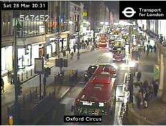 earth hour at oxford st