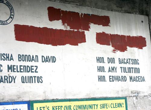 politicians' signs