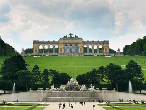 Fountain and Gloriette viewing terrace - Schonbrunn Palace by you.