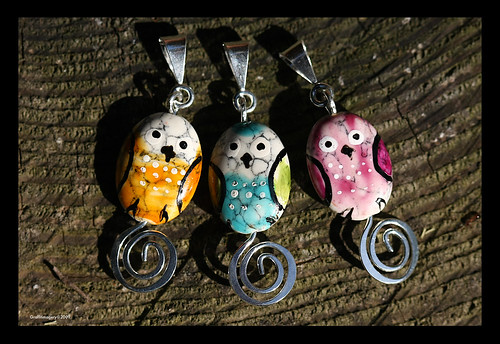 "Bindi Babies..weensie Bindi Bird pendants ..only  3/4"" long! by you."