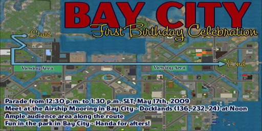Bay City 1st Anniversary Parade Route