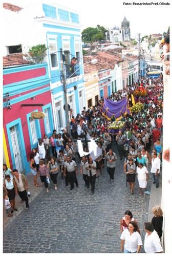 Procissão do Senhor Morto em Olinda (2009). Foto: Passarinho/Pref.Olinda