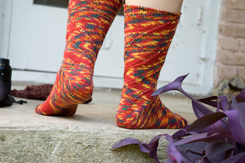 Mom's confetti socks (by bookgrl)