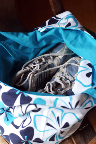 shoes at bottom of bag!