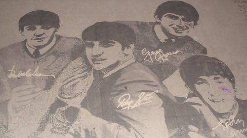 Beatles Rug @ The Beatles Shop, Matthew Street, Liverpool, England