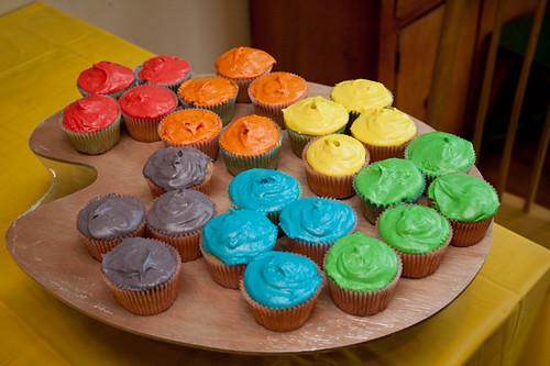 Art Party Birthday Cake