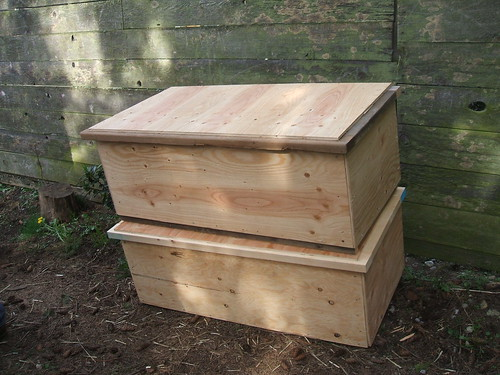 Completed Worm Bins