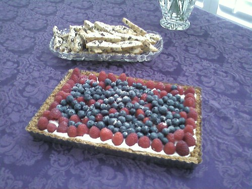 Dottie's biscotti and fruit yogurt tart