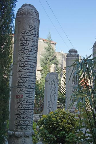 gravestones in Aziz Mahmud Hüdai Camii, Üsküdar, İstanbul, Pentax K10d