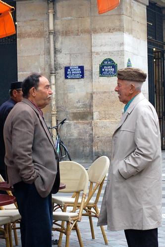 Gents at Marche Place D'Aligre, Paris
