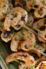 curried minted grilled shrimp 1