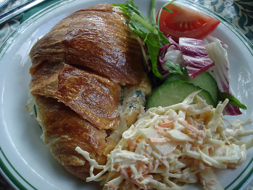 Croissant with Cheese and Chives