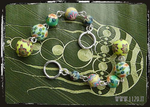Orecchini verdi fimo - Polyclay green earrings IGFIOFIM