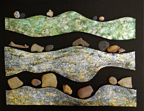 river rocks #1, (work in progress) after inking