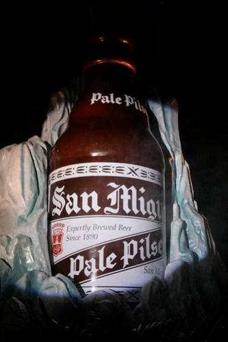 The very big San Miguel Pale Pilsen Bottle
