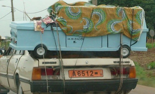 Benin: Coffin for Deceased Taxi Driver