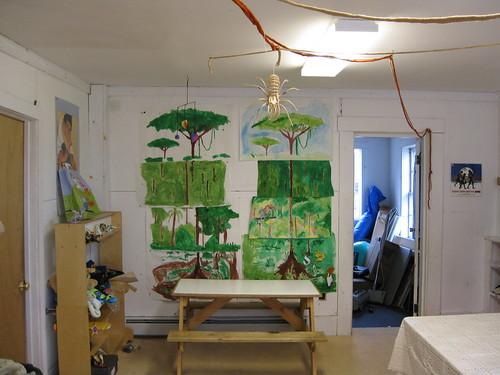 Rainforest - spider and vines