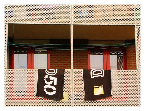 The balcony of a Nikon fan by you.
