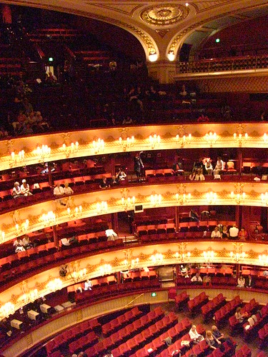 Interior of the Royal Opera House. It was huuuge! 5 levels.