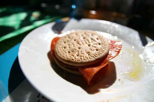 Pepperoni Cookie Sandwich