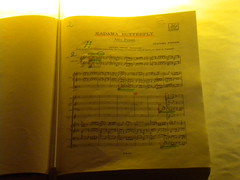 Partitura Madama Butterfly
