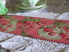 Table runner to suit a shabby chic decor