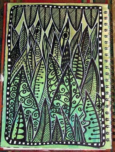 Foliage Art Journal Page
