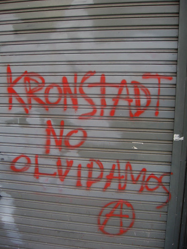 Downtown, Buenos Aires: Viva the Kronstadt rebellion by michaelramallah.