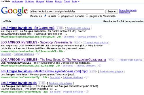 site:mediafire.com amigos invisibles - Buscar con Google_1243281625389