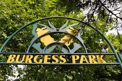Burgess Park entrance
