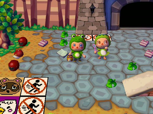 Woo frog costume and Kappn suit!